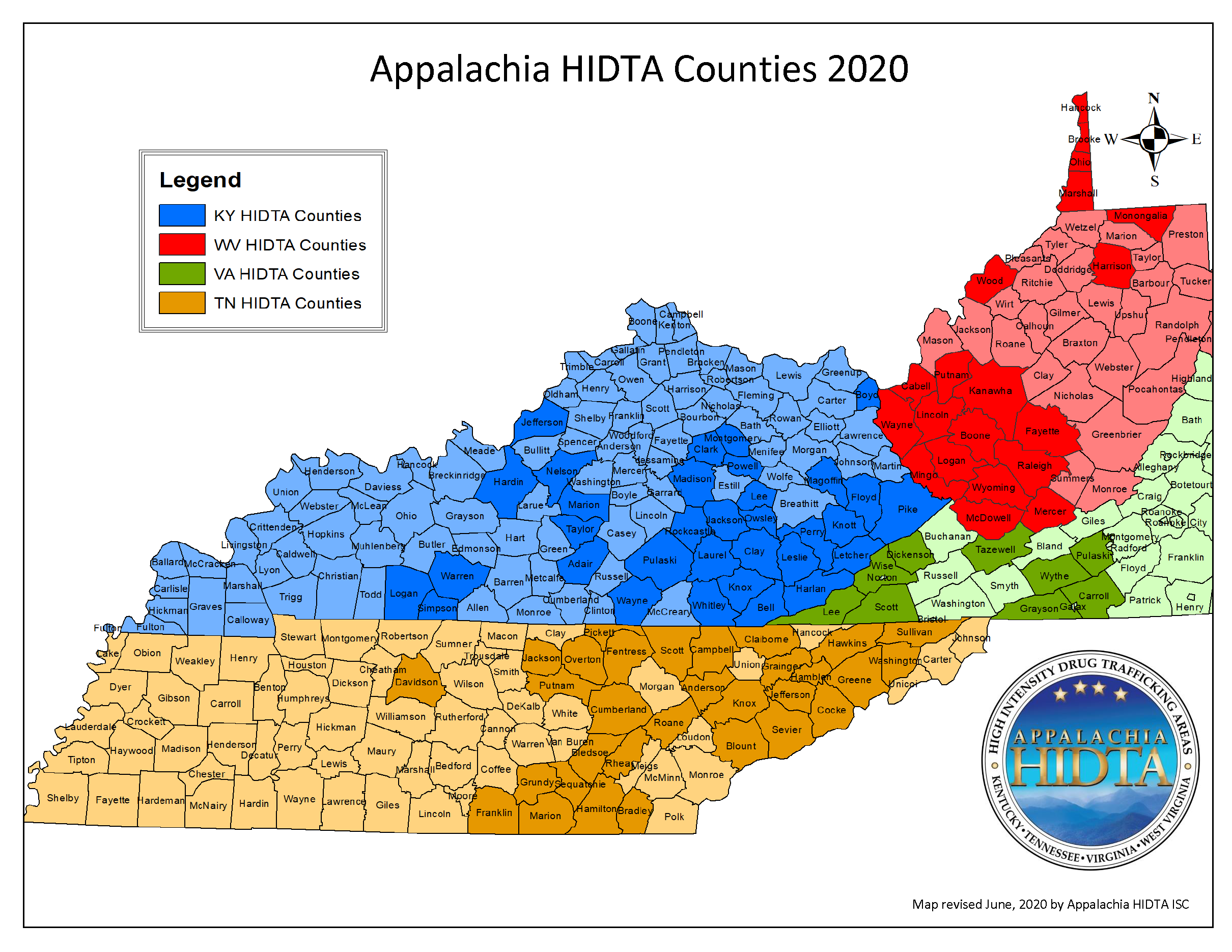 2020 AHIDTA Designated Counties